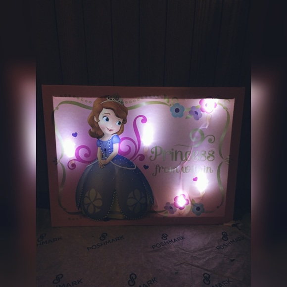 Sofia The First canvas night light